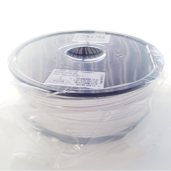 ABS Filament 3mm white (1kg)