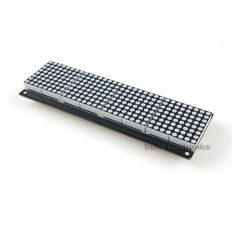 32x8 Dot Matrix Display Board HT1632C 5mm red (DP13212)