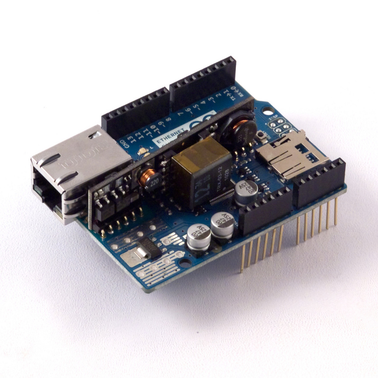 Arduino Ethernet Shield R3 w/ PoE Module
