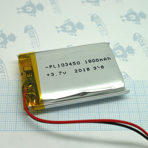 Lithium Ion Polymer Batteries Pack - 1800mAh