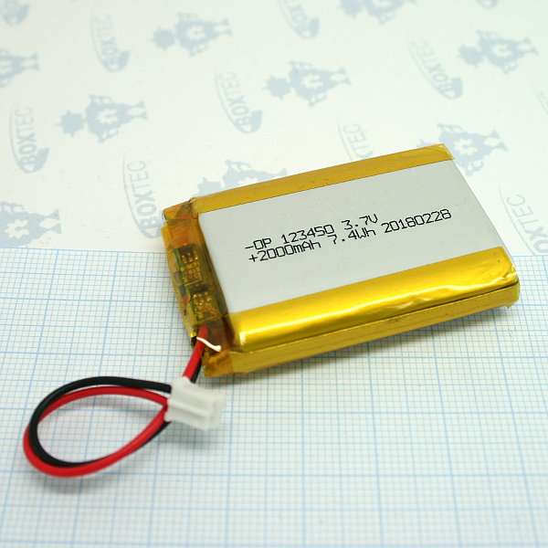 Lithium Ion Polymer Batteries Pack - 2000mAh