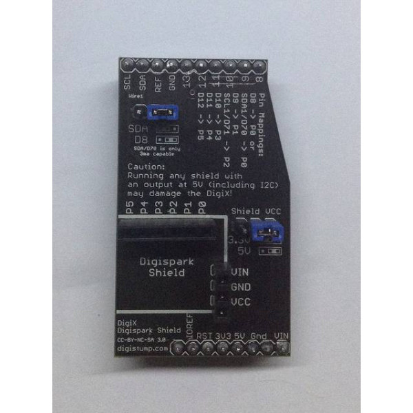 Digispark Shield to DigiX/Arduino Adapter