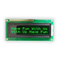 1602 LCD Module green characters black backlight HD44780