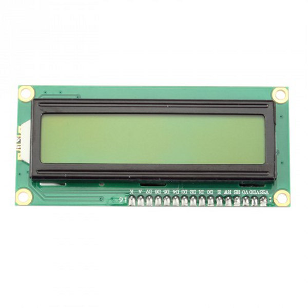1602 LCD black characters, green backlight I2C