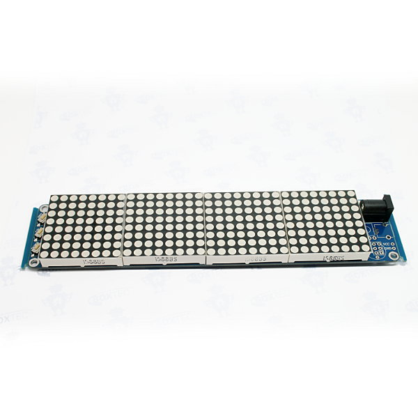 32x8 Dot Matrix LED Clock Board mit ATmega8