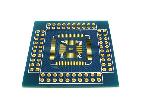 QFN / QFP / TQFP / LQFP 16-80 to DIP Breakout Board
