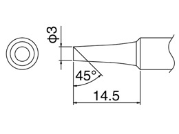 Hakko Soldering Tip T18-C3