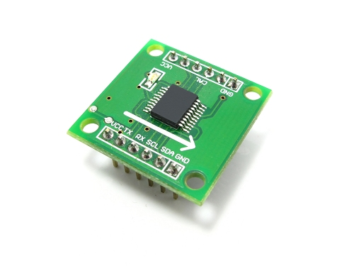 Low-cost digital compass module with UART/IIC interface
