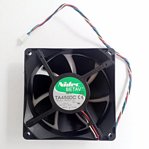 Nidec TA450DC Fan 120x120x38mm 12VDC - Two Ball Bearing