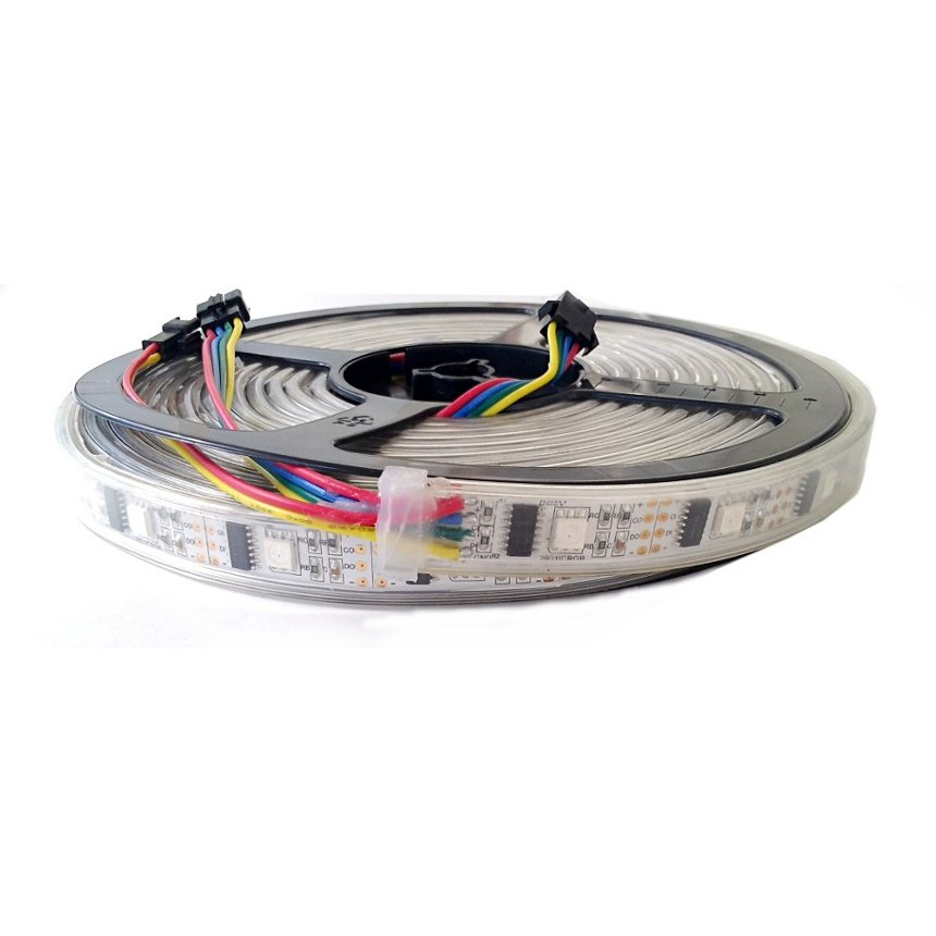 LED Pixel Strip 5m (WS2801) wasserdicht 32LED/m