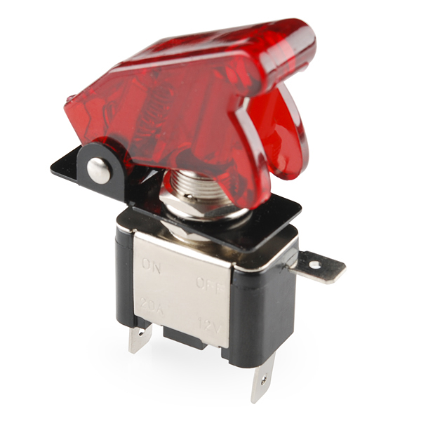 Missile Switch with Cover - Illuminated (red)