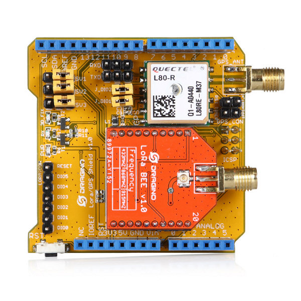 LoRa GPS Shield - 868MHz