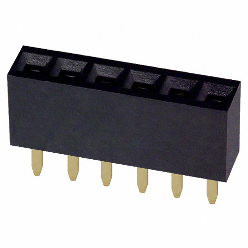 Headers female 1x6Pin