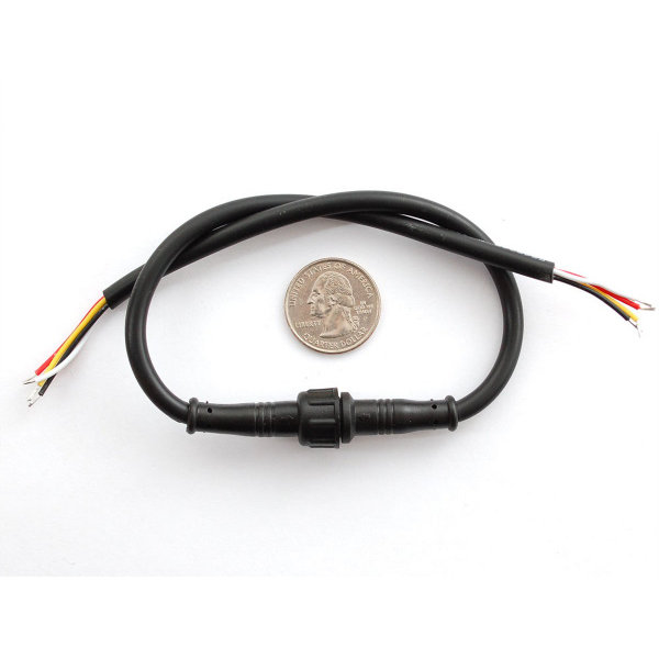 Waterproof Polarized 4-Wire Cable Set
