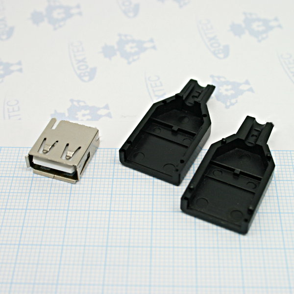 USB Type-A Female Connector for soldering