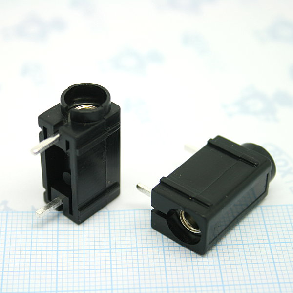 Banana connector PCB mount - black
