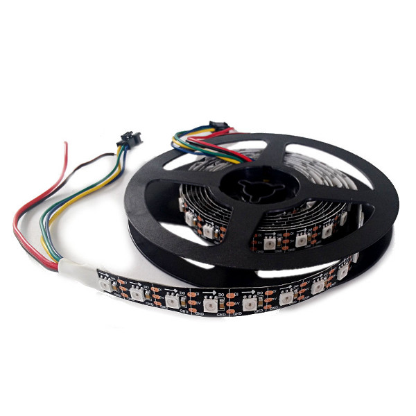 LED NeoPixel Strip 2m (WS2812B - black PCB) - 74LED/m