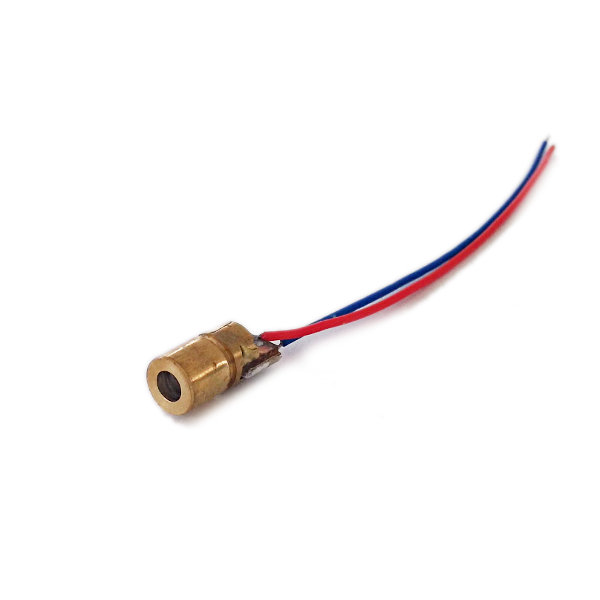 Red Laser Module (5V, 6mm, 650nm, 5mW) - Dot