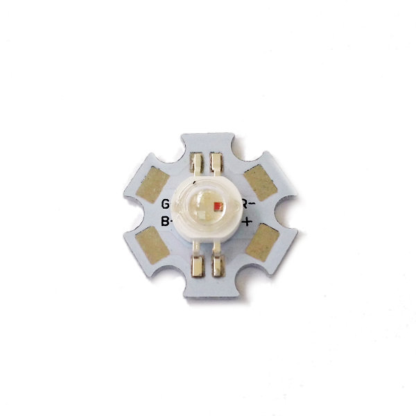 3W RGB LED Emitter on Star