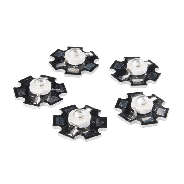 3W LED Aluminium - Blue (5pcs)