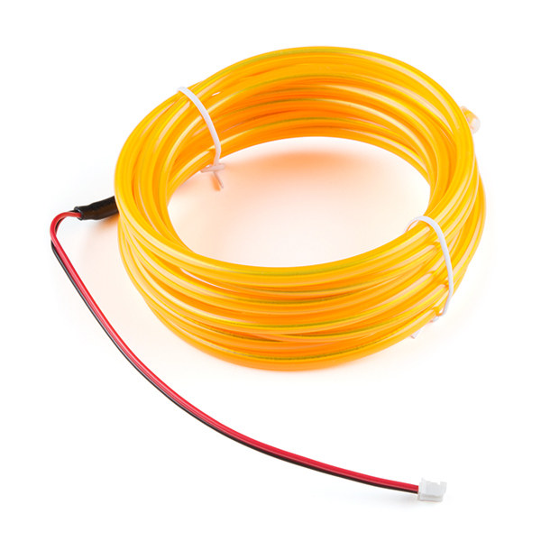 EL Wire bendable - Yellow 3m