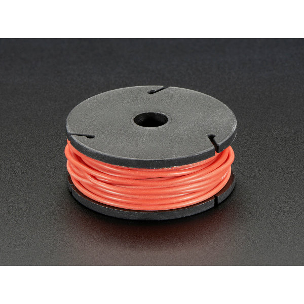 Silicone Cover Stranded-Core Wire - 7.6m 26AWG Red