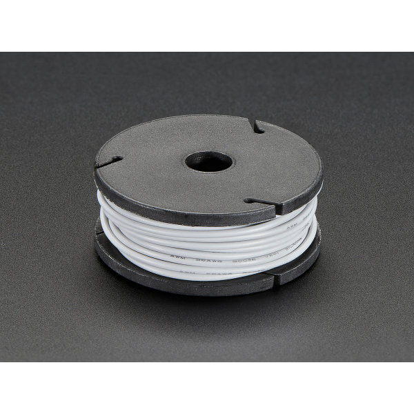 Silicone Cover Stranded-Core Wire - 7.6m 26AWG Gray