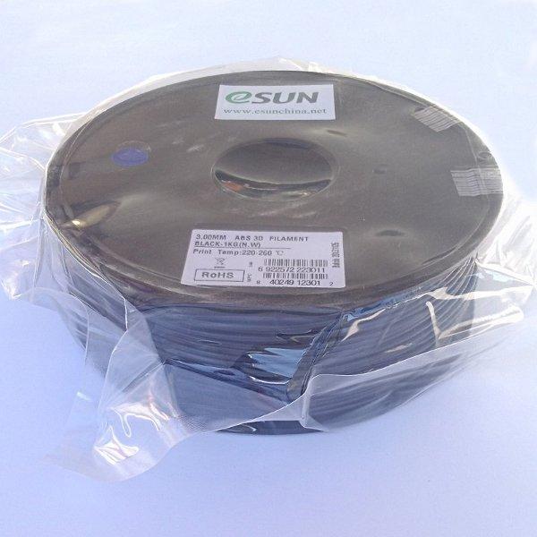 ABS Filament 3mm schwarz (1kg)